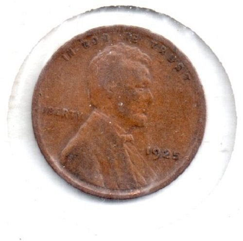 1925 p Lincoln Wheat Penny #4