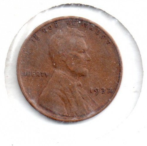 1937 p Lincoln Wheat Penny - #4