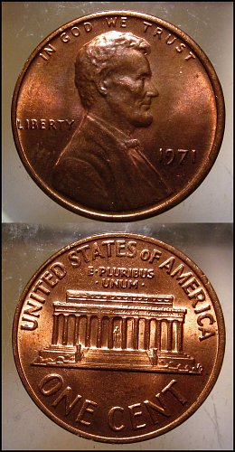 1971 Lincoln Cent Small Cents