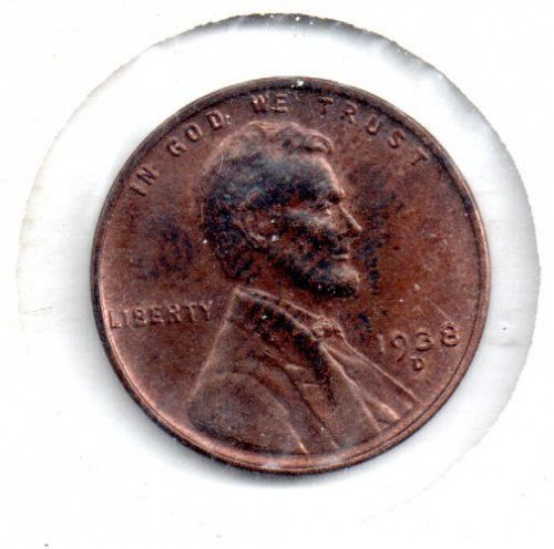 1938D Lincoln Wheat Penny - #4
