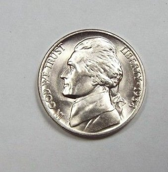 1938 D Washington nickel