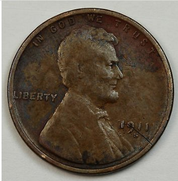 1911 S wheat penny (low mint)