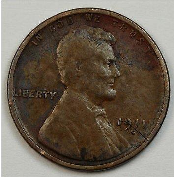 1911 S wheat penny (low mint)
