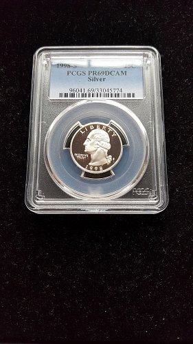 1998 S Proof Silver Quarter PR69DCAM