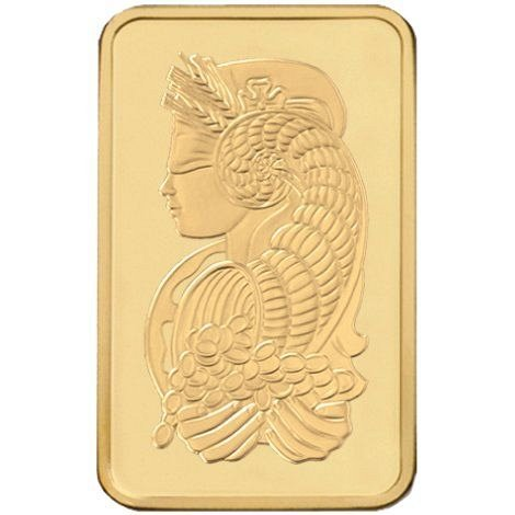 1 Gram PAMP Suisse Gold Ingot Bar (New w/ Assay)