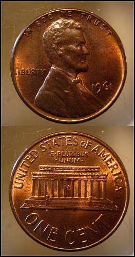 1961 Lincoln Cent Small Cents