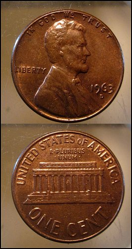 1963 D Lincoln Cent Small Cents – Nice Penny