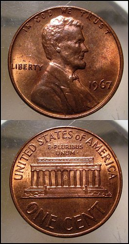 1967 Lincoln Cent Small Cents – Nice Penny