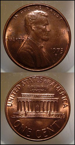 1973 D Lincoln Cent Small Cent - Nice Penny