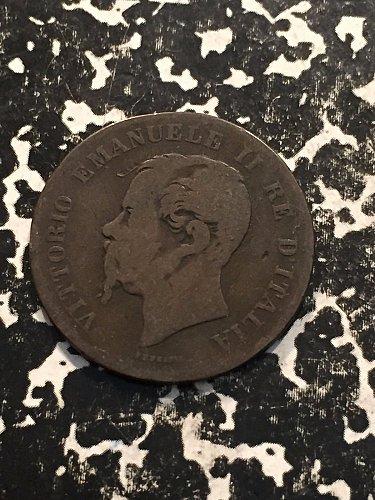 1862N italty 5 centesimi