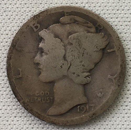 1917 P Mercury Dime