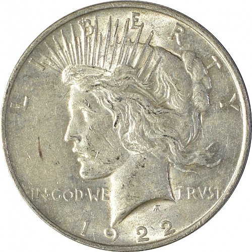 1922 Peace Dollar, Normal Relief, (Item 86)