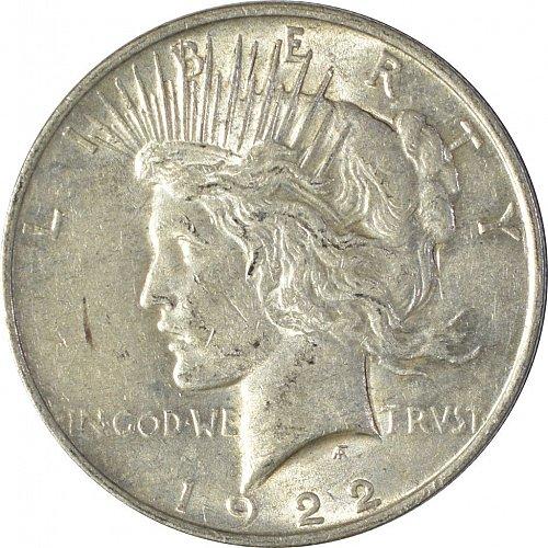 1922 Peace Dollar, Normal Relief, (Item 86)