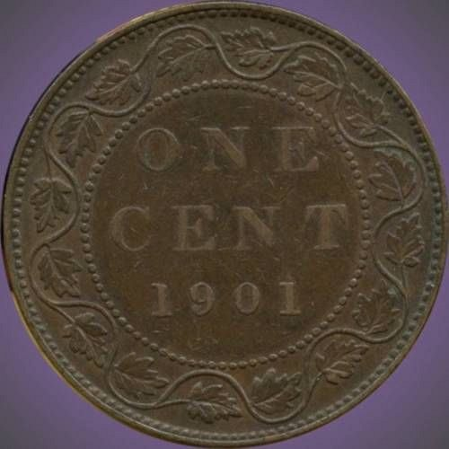 1901 canada large cent