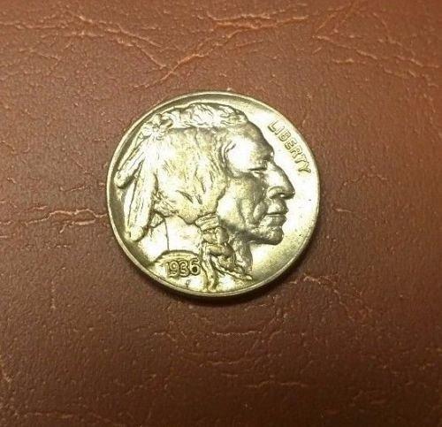 1936 buffalo nickel b/u