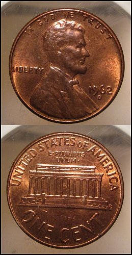 1962 D Lincoln Cent Small Cents – Nice Penny