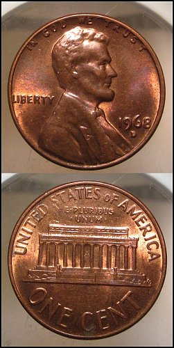 1968 D Lincoln Cent Small Cents – Nice Penny