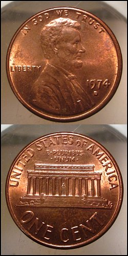 1974 D Lincoln Cent Small Cents – Nice Penny