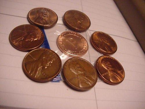7-wheats 1937,42,44,46,48,52,55   unc