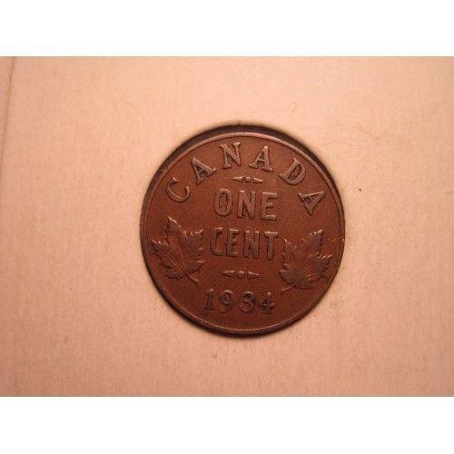 1934 canada small cent