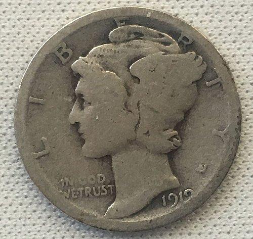 1919 P Mercury Dime
