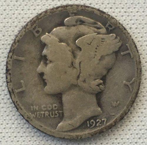 1927 P Mercury Dime
