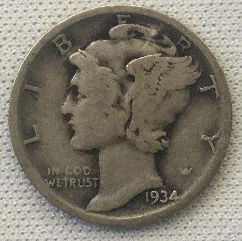 1934 P Mercury Dime
