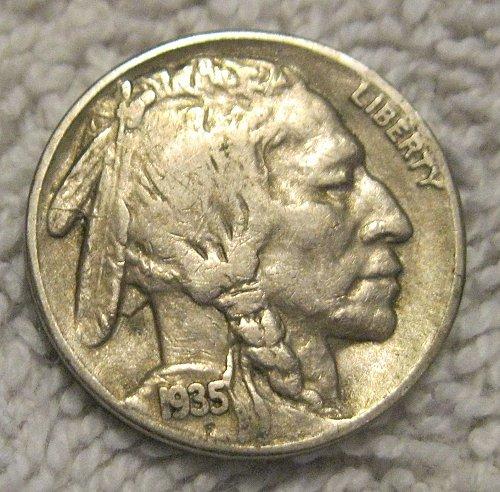 1935-S INDIAN HEAD / BUFFALO NICKEL