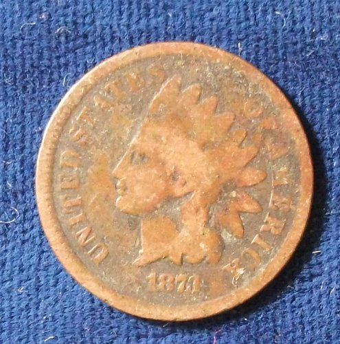 "1873 ""Open 3"" Indian Cent AG"