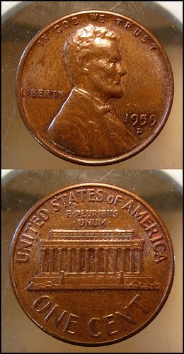 1959 D Lincoln Cent Small Cents – Nice Penny