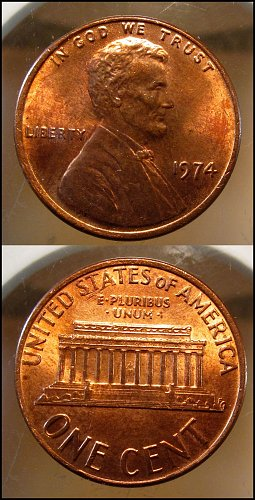 1974  Lincoln Cent Small Cents – Nice Penny