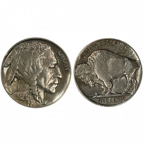 1929 D Buffalo Nickel - AU