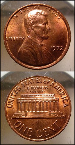 1972  Lincoln Cent Small Cents – Nice Penny