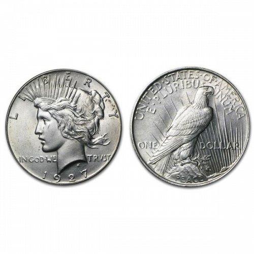 1927 Peace Silver Dollar - BU