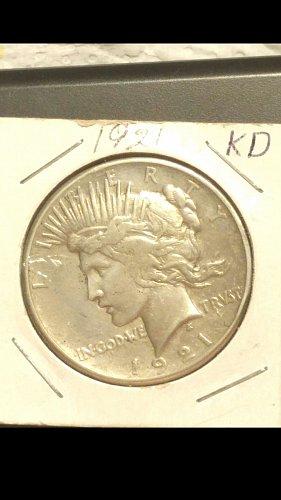 1921-P peace dollar  (Key Date)