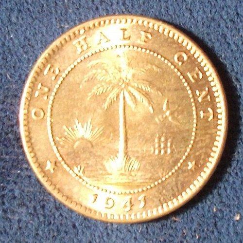 1941 Liberia 1/2 Cent BU