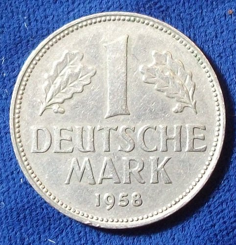 1958D Germany/Fed. Rep 1 Mark VF