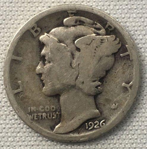 1926 P Mercury Dime