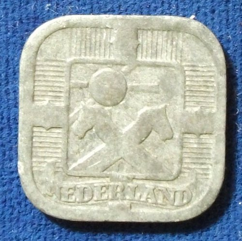 1942 Netherlands 5 Cents XF