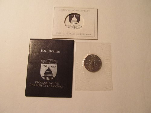 1989 Bicentennial of the US Congress Half Dollar