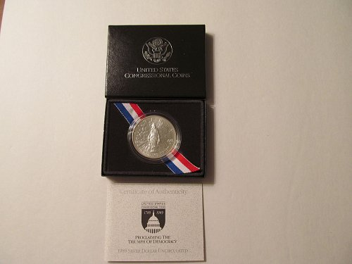 1989 D Bicentennial of Congress Silver Dollar