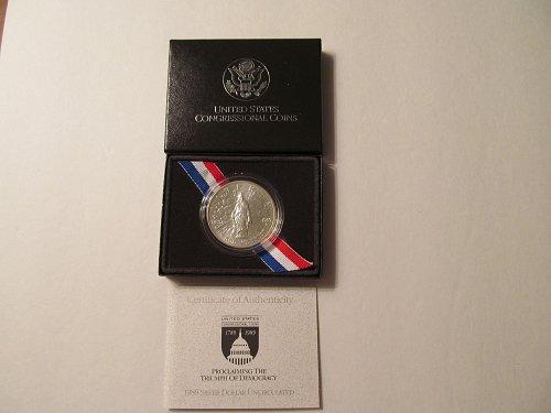 1989 D Bicentennial of Congress Silver Dollar