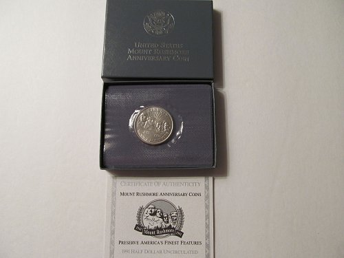 1991 Mount Rushmore 50th Anniversary Half Dollar