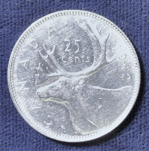 1942 Canada 25 Cents AU