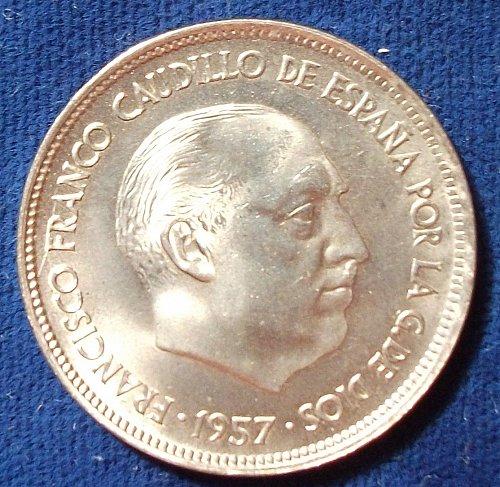 1957(59) Spain 25 Pesetas UNC