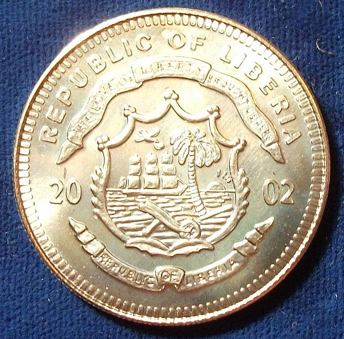"2002 Liberia $10 BU ""George W. Bush"""