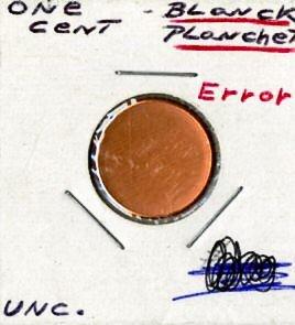 penny blank error