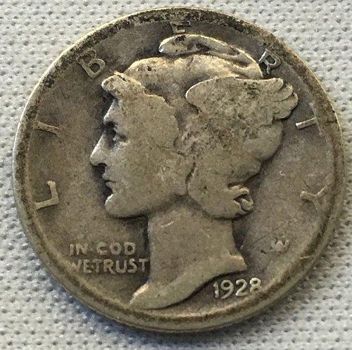 1928 P Mercury Dime