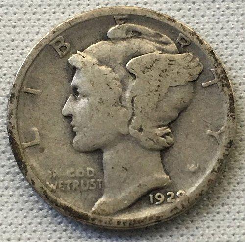 1929 D Mercury Dime