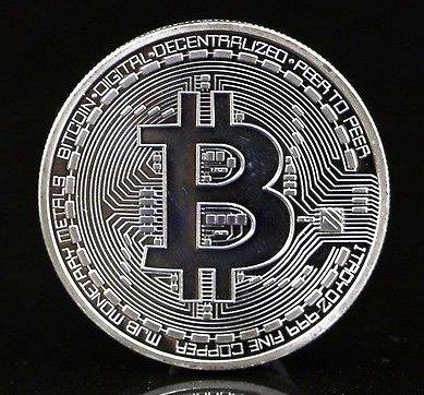 New Plated Silver Bitcoin Coin Collectible BTC Coin Art Collection Gift Physical